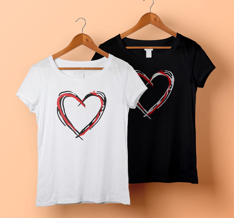 I Love Heart Working Ladies T-Shirt